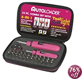 KR Tools 12670 Autoloader 6-in-1 Autoloading Screwdriver, 52-Piece Set, Pink