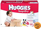 Huggies Snug & Dry Diapers, Size 4, Giant Pack, 140 Count