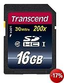 Transcend Extreme-Speed SDHC 16GB Class 10 Speicherkarte (bis 20MB/s Lesen)