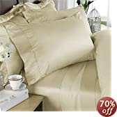 Rayon from BAMBOO Sheet Set - King Size Ivory 1200 Thread Count Cotton Sheet Set (Deep Pocket)