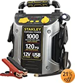 Stanley J5C09 1000 Peak Amp Jump Starter with Built in Compressor