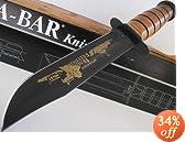 KA-BAR USA Limited Edition (1 of 900) US Coast Guard iraqi Freedom Gold Print Bowie Knife