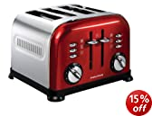 Morphy Richards Accents 44732 4 Slice Toaster - Red