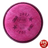 3M 2097 P100 Particulate Filter with Organic Vapor Relief, 1 Pair