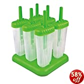 Tovolo Groovy Ice Pop Molds, Spring Green - Set of 6