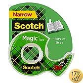 Scotch Magic Tape, 1/2 x 450 Inches, 12 Rolls (104)