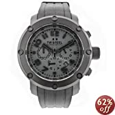 TW Steel Men's TW128 Grandeur Tech Black Rubber Chronograph Dial Watch
