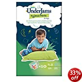 Pampers UnderJams For Boys Small/Medium (38-65 lbs/17-29 kg) Pyjama Pants - 4 x Packs of 10 (40 UnderJams)