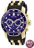Invicta Men's Pro Diver Chronograph Watch 6983, Black/Blue
