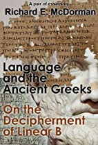 'Language and the Ancient Greeks' and 'On…