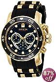 Invicta Men's 6981 Pro Diver Collection Chronograph Black Dial Black Dress Watch