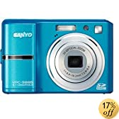 Sanyo Xacti Vpc-S885 8Mp Digital Camera With 3X Optical Zoom, 2.7 Lcd, Face Detection - Blue