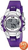 Timex Women's T5K459 1440 Sports Digital Purple Resin Watch