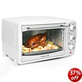 Andrew James 20 Litre White Convection Mini Oven And Grill 1500 Watts, Includes 2 Year Warranty And 5 Different Cooking Settings