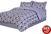 Divatex Dots Microfiber Twin Bed In the Bag