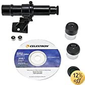 Celestron FirstScope Accessory Kit with eyepiece, moon filter, finderscope, bracket, CD-ROM, bag