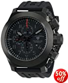 Swiss Legend Men's 1101-BB-01 Militare No1 Collection Automatic Chronograph Black Rubber Watch with Winder