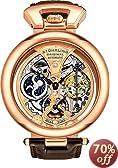 Stuhrling Original Men's 127A.334553 Special Reserve Emperor's Grandeur Automatic Skeleton Dual Time Rose Tone Watch