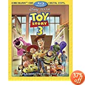 Toy Story 3 (Four-Disc Blu-ray/DVD Combo + Digital Copy): Tom Hanks, Tim Allen, Joan Cusack, Ned Beatty, Don Rickles