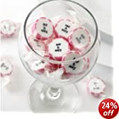 Nevetti Pink and White Mr and Mrs Rock Wedding Favours Sweet 50 Pieces