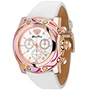 Glam Rock Women'sGR10510 Miami Smalto Collection Diamond Accented Chronograph White Techno Watch