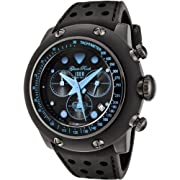 Glam Rock Men's GR90106 Race Track Collection Chronograph Black Silicone Watch