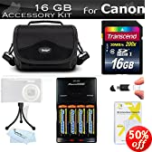 8GB Advanced Accessory Kit For Canon PowerShot SX160 IS, SX160IS, SX130 IS SX130IS SX150 IS SX150IS Digital Camera Includes 8GB High Speed SD Memory card + USB 2.0 Card Reader + 4AA High Capacity Rechargeable NIMH Batteries And AC/DC Charger + Case + More