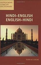 Hindi-English/English-Hindi Concise…