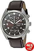Seiko Men's SNN241 Analog Display Japanese-Quartz Brown Watch