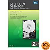 WD Green Desktop 2TB SATA 6.0 GB/s 3.5-Inch Internal Desktop Hard Drive Retail Kit