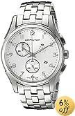 Hamilton Men's H38612153 Jazzmaster Thinline Chronograph Silver Dial Watch