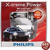 Philips 9003 XPS2 X-treme Power Replacement Bulb, (Pack of 2)
