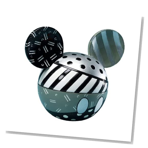 black and white mickey mouse head