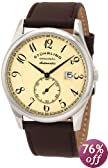 "Stuhrling Original Men's 171B.3315K77 ""Classic Cuvette"" Stainless Steel and Leather Automatic Watch"