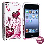 Butterfly Heart 2d Hard Snap-on Crystal Skin Case Cover Accessory for Ipod Touch 4th Generation 4G FOR 8GB 32GB 64GB