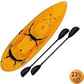 Lifetime Manta Tandem Sit on Top Kayak with Paddles and Backrests, 10 Feet, Yellow