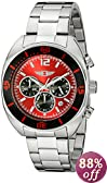 I By Invicta Men's 90232-003 Chronograph Red Dial Stainless Steel Watch