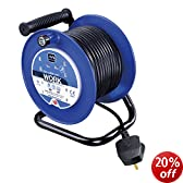 Masterplug LDCC2513/4BL 25 m 13 A 4 Socket Open Cable Reel with Thermal Cut-Out and Reset Button