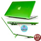 iPearl mCover Hard Shell Cover Case with FREE keyboard cover for 13.3-inch Apple MacBook Air A1369 & A1466 - GREEN