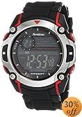 Armitron Sport Men's 408232RED Chronograph Black Resin Strap Watch