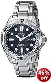 Seiko Men's SNE107 Silver Stainless-Steel Quartz Watch with Black Dial