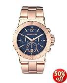 Michael Kors MK5410 Women's Chronograph Dylan Rose Gold-Tone Stainless Steel Bracelet Watch