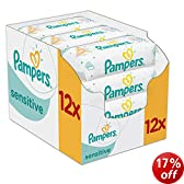 Pampers Sensitive Baby Wipes - 12 x Packs of 56 (672 Wipes)