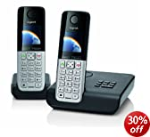Gigaset C300A Twin DECT Cordless Phone Set with Answer Machine