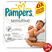 Pampers Sensitive Baby Wipes - 24 x Packs of 56 (1344 Wipes)