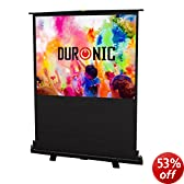"""Duronic FPS60/43 - Floor Projector Screen - 60"""" (Screen: 122cm(w) X 91cm(h)) Portable Freestanding 4:3 Widescreen - Retracts into a portable carry case"""