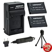 Kapaxen Two EN-EL19 Battery Packs & Charger Kit for Nikon Coolpix S100 S2500 S2700 S2750 S3100 S3200 S3300 S3500 S4100 S4150 S4200 S4300 S5200 S6400 S6500 S6600 Digital Cameras