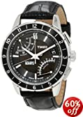 Timex Men's T2N495 Intelligent Quartz SL Series Fly-Back Chronograph Black Leather Strap Watch
