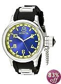 Invicta Men's 1434 Russian Diver Blue Dial Black Rubber Watch