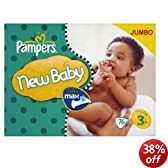 Pampers New Baby Size 3 (Midi) Jumbo Pack 74 Nappies